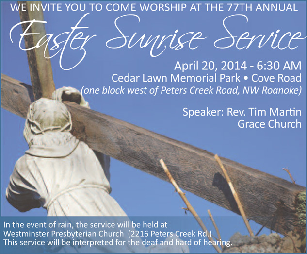 2014 Easter Sunrise Service