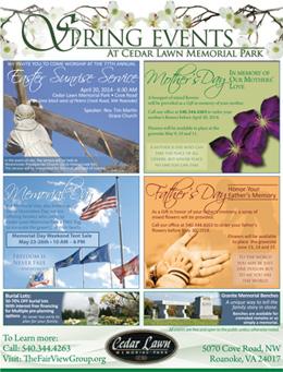 2014 Spring Events Brochure