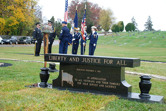 Veterans Plaza Dedication at Fair VIew Cemetery, Roanoke, VA, November 11, 2015
