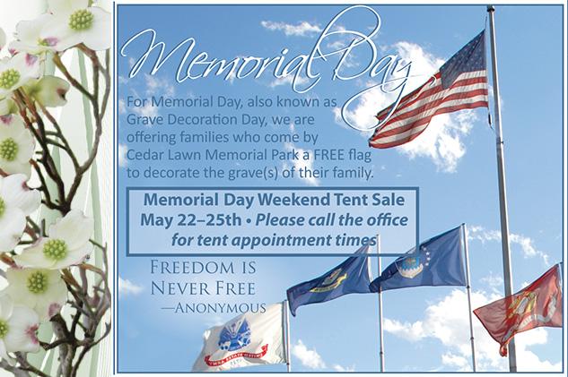 Memorial Day at Cedar Lawn 2015