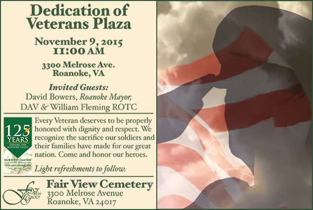 Veterans Day Dedication, 2015