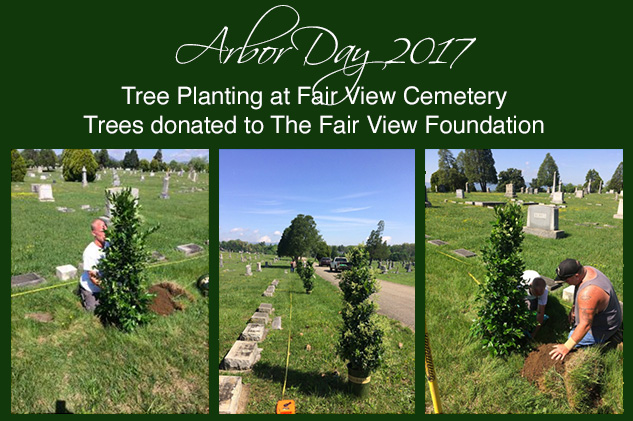 Arbor Day Tree Planting at Fair View Cemetery