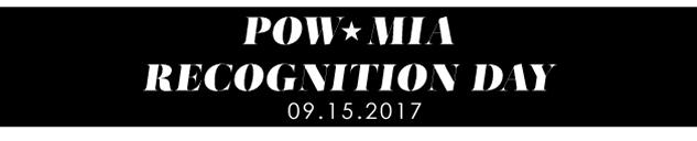 POW MIA Recognition Day 9-15-2017