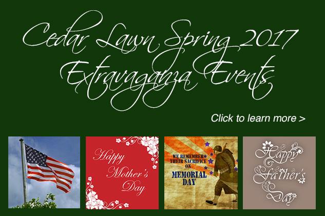 Cedar Lawn Spring 2017 Extravaganza Events