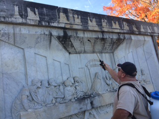 Cleaning of the Last Supper Monument