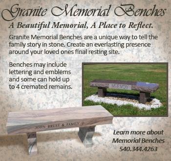 Granite Memorial Benches