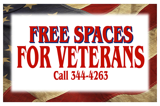 Free Spaces for Veterans - Call (540) 344-4263